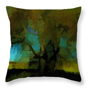 Willow Tree Throw Pillow by Bonnie Bruno