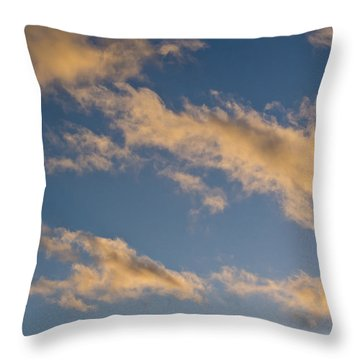 Wind Driven Clouds Throw Pillow by Mick Anderson