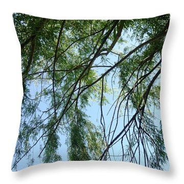 Wind In The Willow Throw Pillow by Alys Caviness-Gober