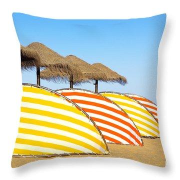 Wind Shields Throw Pillow by Carlos Caetano