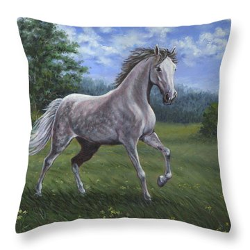 Wind Song Throw Pillow by Richard De Wolfe