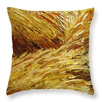 Windblown Grass Throw Pillow by Raette Meredith