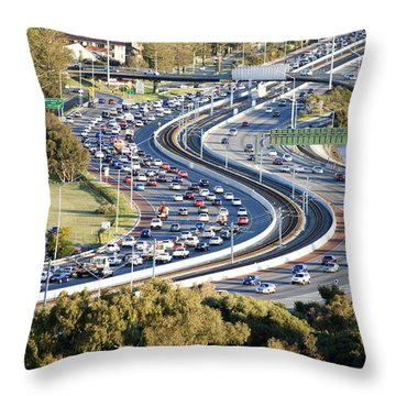 Winding Road Throw Pillow by Yew Kwang