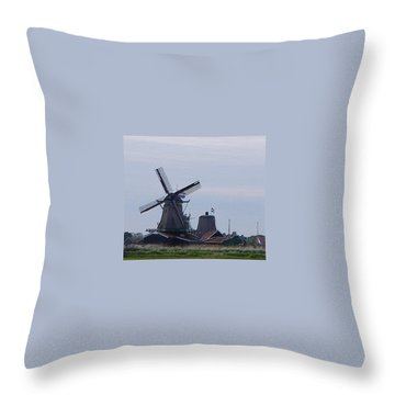 Windmill Throw Pillow by Manuela Constantin