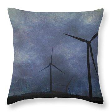 Windmills. Throw Pillow