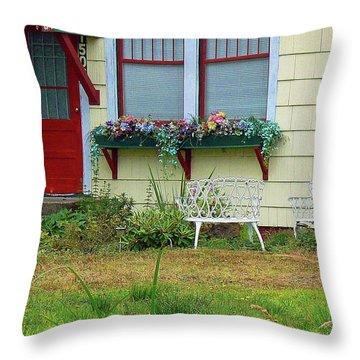 Window Flower Garden Throw Pillow by Pamela Patch