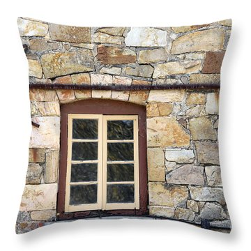 Window Into The Past Throw Pillow