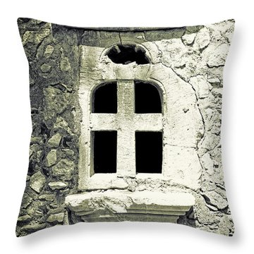Window Of Stone Throw Pillow by Joana Kruse