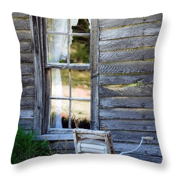 Window On Prairie Life Throw Pillow