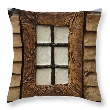 Window Throw Pillow by Steve  Hester