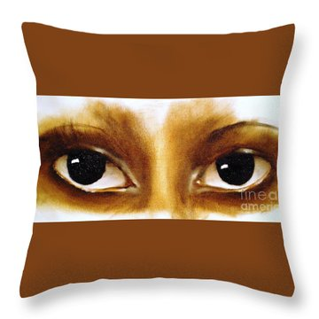 Throw Pillow featuring the painting Window To The Soul by Annemeet Hasidi- van der Leij