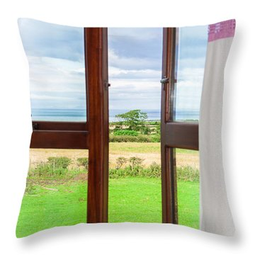 Window View Throw Pillow by Semmick Photo
