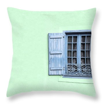 Window With Copy Space Throw Pillow by Jane Rix