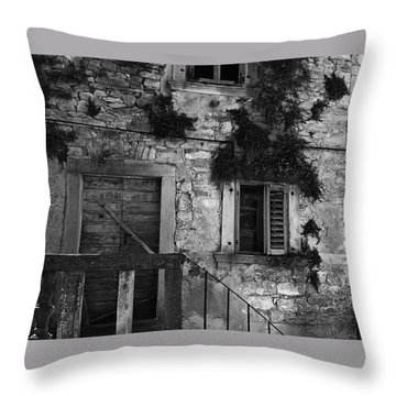 Throw Pillow featuring the photograph Crumbling In Croatia by Andy Prendy