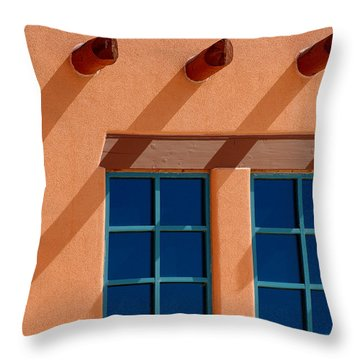 Windows Blue Throw Pillow
