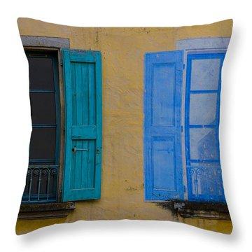 Windows Throw Pillow by Debra and Dave Vanderlaan