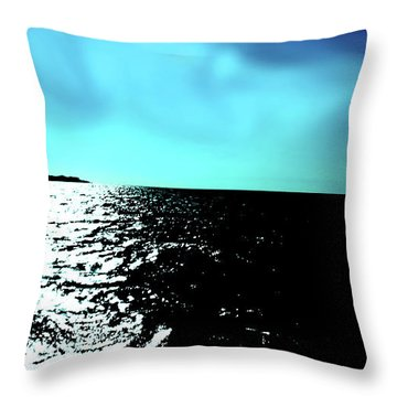 Windsurfing Greece Throw Pillow