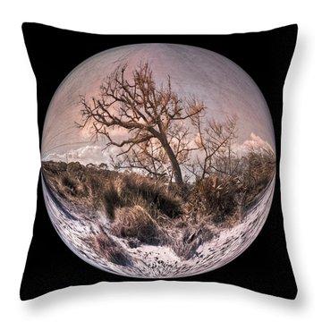 Windswept At Driftwood Beach II Throw Pillow by Debra and Dave Vanderlaan