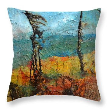 Windswept Pines Throw Pillow