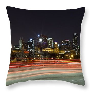 Windy City Fast Lane Throw Pillow