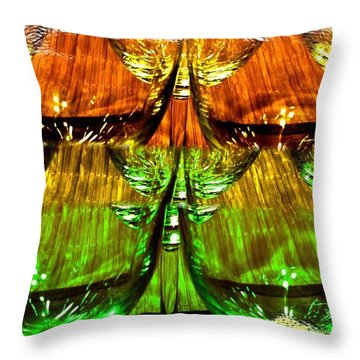 Wine And Dine 2 Throw Pillow by Will Borden