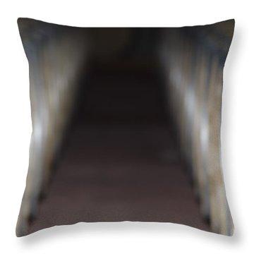 Wine Barrels In Line Throw Pillow