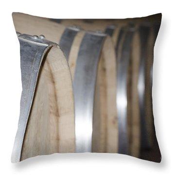 Wine Barrels Throw Pillow by Mats Silvan