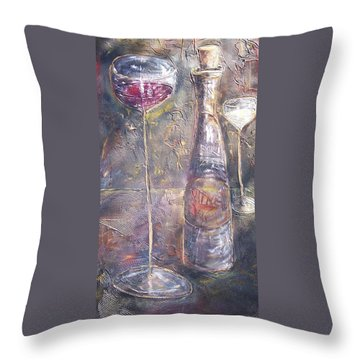 Wine Characters Throw Pillow