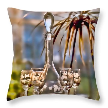 Wine For All Throw Pillow