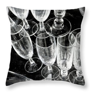 Wine Glasses Throw Pillow by Lainie Wrightson