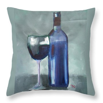 Wine Throw Pillow by Patricia Cleasby