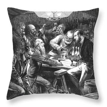 Wine Tasting, 1876 Throw Pillow by Granger