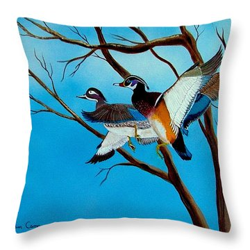Wingin'  It Throw Pillow