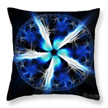 Wings Of Abyss Throw Pillow