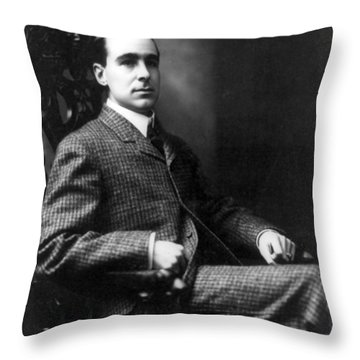 Throw Pillow featuring the photograph Winston Churchill - C 1900 by International  Images