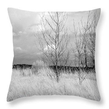 Winter Bare Throw Pillow