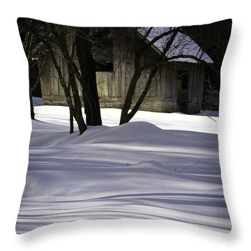 Winter Barn Throw Pillow by Rob Travis