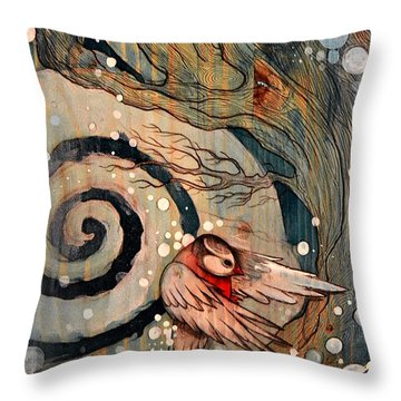 Winter Becoming Throw Pillow