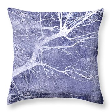 Winter Blues Throw Pillow by Ann Powell