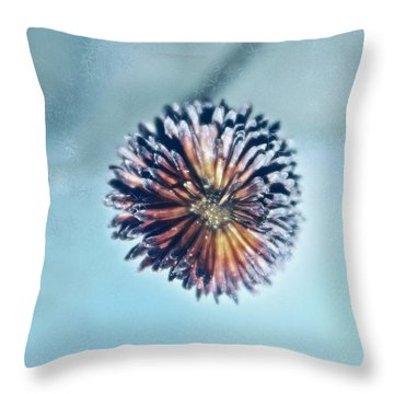 Winter Blues Throw Pillow by Linda Sannuti