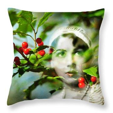 Winter Fancies Throw Pillow by Rebecca Sherman