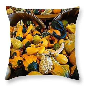 Winter Gourds  Throw Pillow by Nick Kloepping