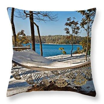 Throw Pillow featuring the photograph Winter Hammock by Susan Leggett