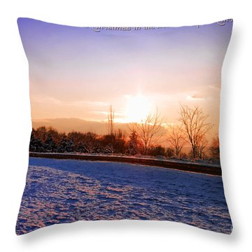Winter Landscape Connecticut Usa Throw Pillow by Sabine Jacobs