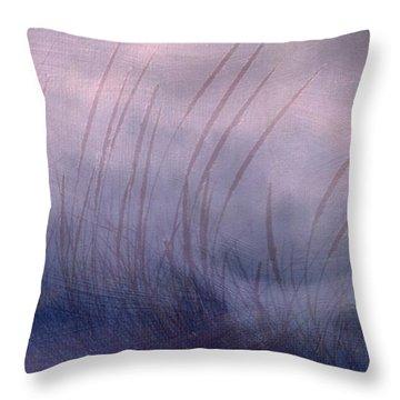 Winter Long Grass Throw Pillow