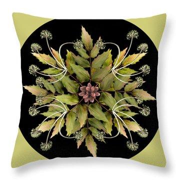 Winter Mandala Throw Pillow