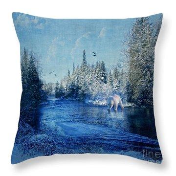 Winter Paradise Throw Pillow by Lianne Schneider