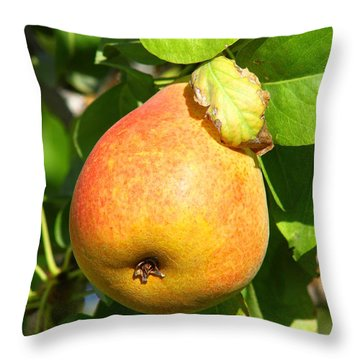 Winter Pear 1 Throw Pillow