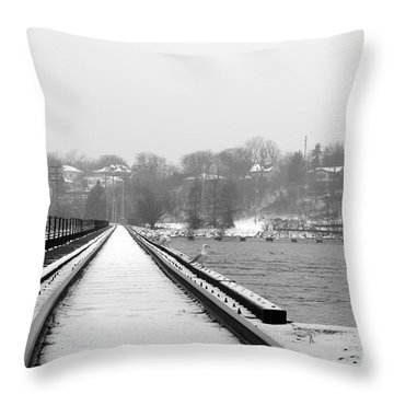 Winter Rails Throw Pillow by Joel Witmeyer