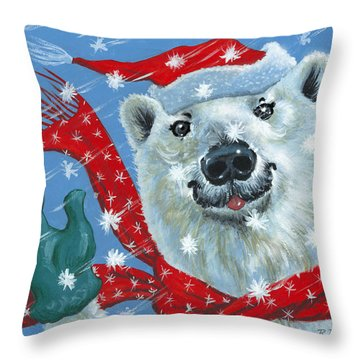 Winter Really Is A Blast Throw Pillow by Richard De Wolfe